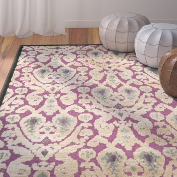 Saint-Michel Purple/Beige Area Rug by Bungalow Rose