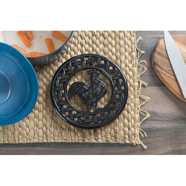 Cast Iron Rooster Trivet (Set of 2) by Home Basics