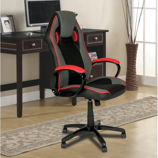 Indy Racing High-Back Leather Gaming Chair by Innovex