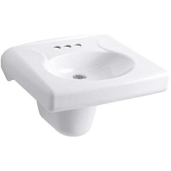 Brenham Ceramic 22 Wall Mount Bathroom Sink by Kohler