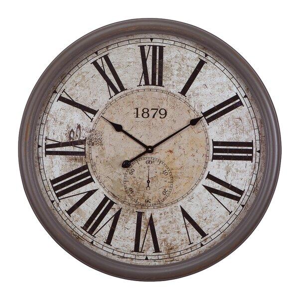 Oversized Gray/Black 31.5 Wall Clock by One Allium Way