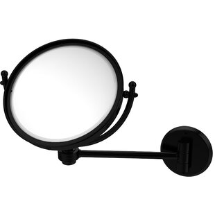 Great Price Wall Mounted Make-Up 5X Magnification Mirror with Groovy Detail By Allied Brass