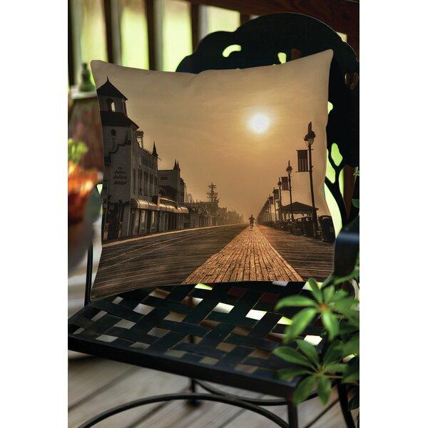 Boardwalk Sunrise Indoor/Outdoor Throw Pillow by Manual Woodworkers & Weavers