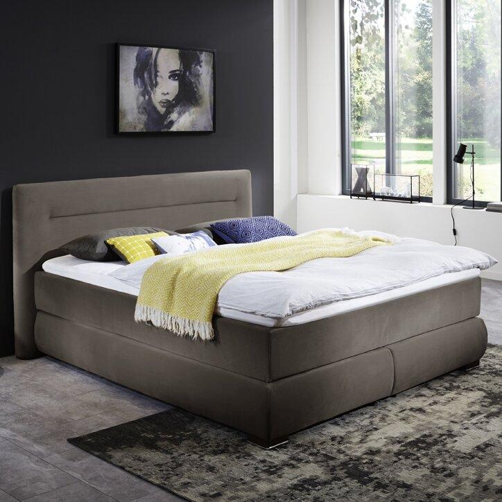 atlantic home collection boxspringbett perla mit topper. Black Bedroom Furniture Sets. Home Design Ideas
