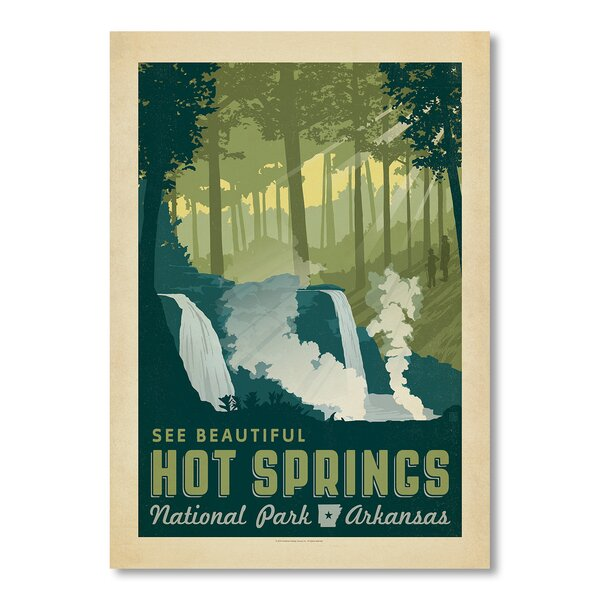 National Park Hot Springs Vintage Advertisement by East Urban Home