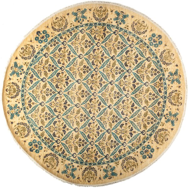 One-of-a-Kind Suzani Hand-Knotted Multicolor Area Rug by Darya Rugs