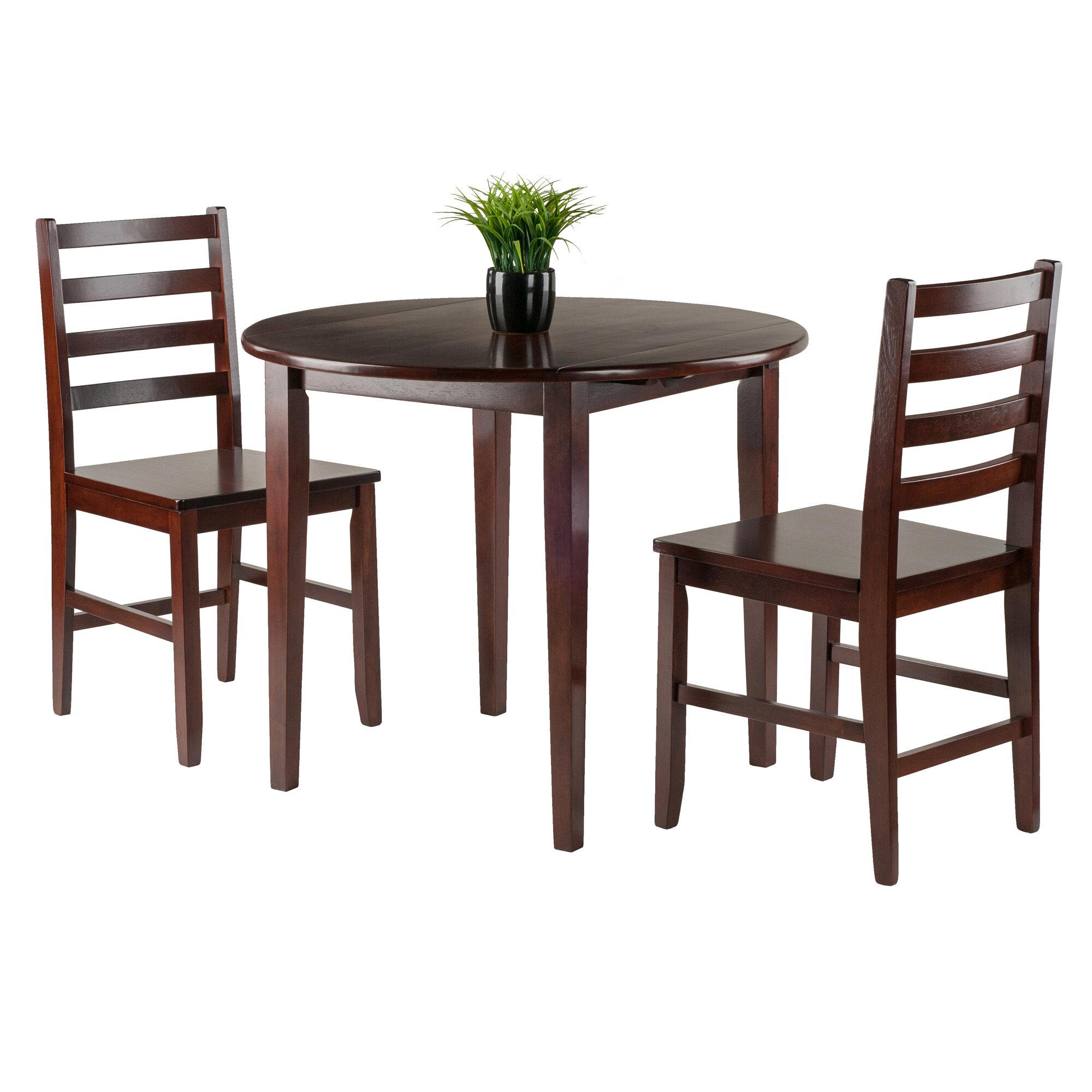 sc 1 st  Wayfair & Alcott Hill Kendall 3 Piece Drop Leaf Wood Dining Set   Wayfair