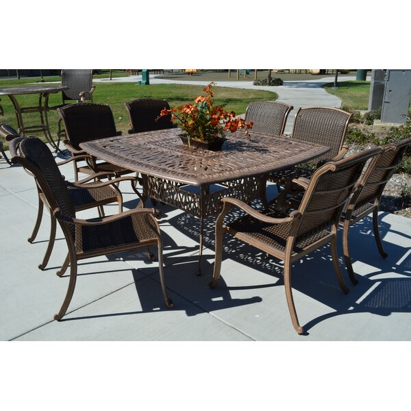 Adela 9 Piece Dining Set with Umbrella by Darby Home Co