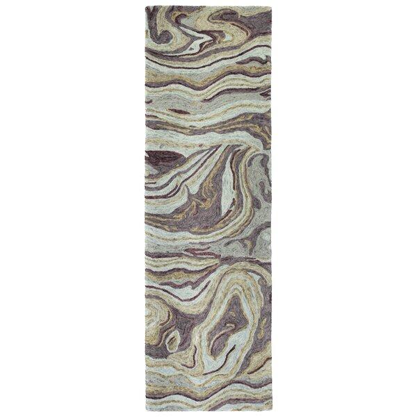 Bargas Hand Tufted Wool Aubergine Area Rug