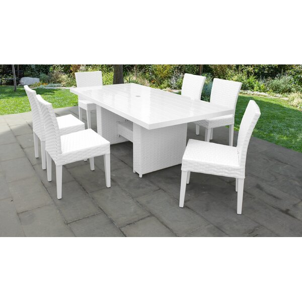Miami 7 Piece Outdoor Patio Dining Set by TK Classics