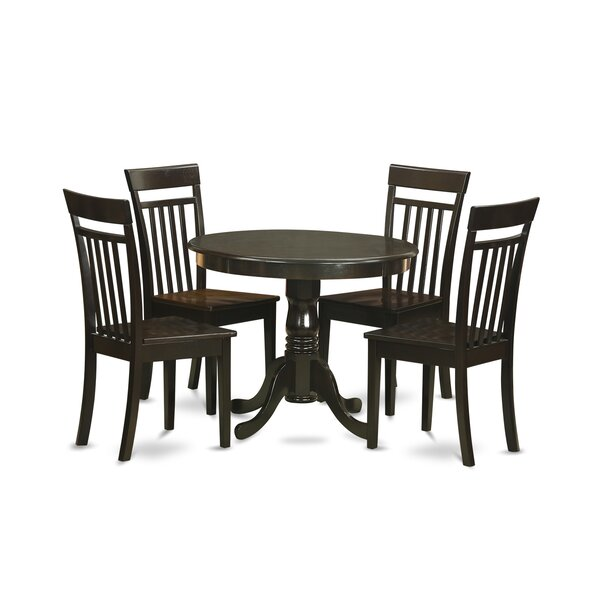 5 Piece Dining Set by East West Furniture East West Furniture
