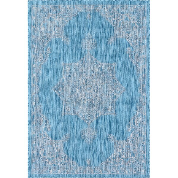 Crader Blue/Gray Indoor/Outdoor Area Rug by Charlton Home