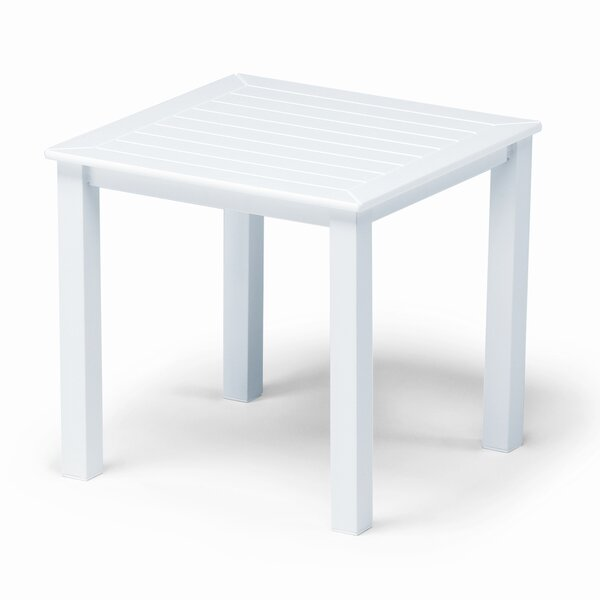 Marine Grade Polymer Tables Square Aluminum Side Table by Telescope Casual