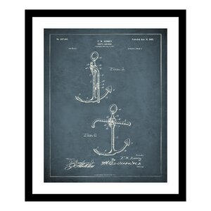 1902 Anchor Patent Framed Graphic Art by Replay Photos