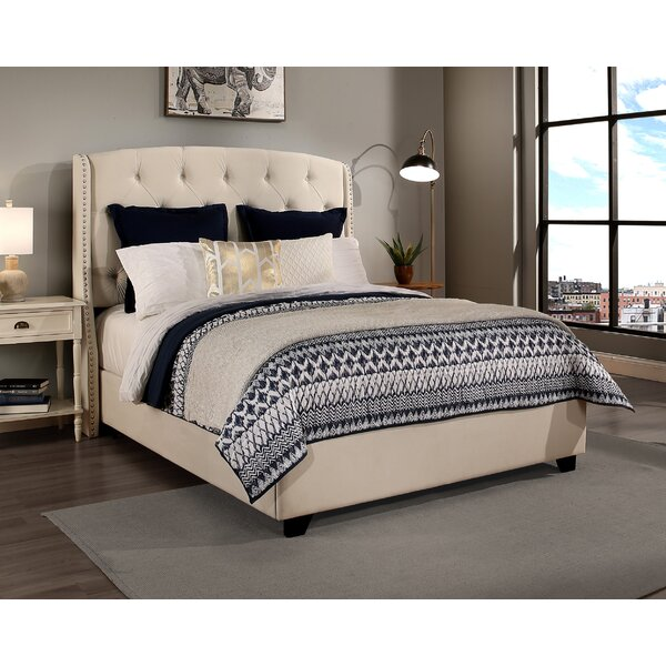 Strahan Upholstered Bed by Alcott Hill