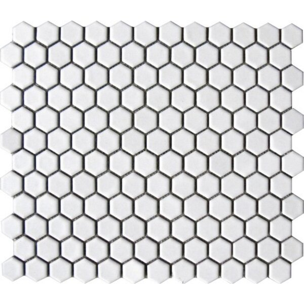 Value Series 1 x 1 Porcelain Mosaic Tile in Bright White by WS Tiles