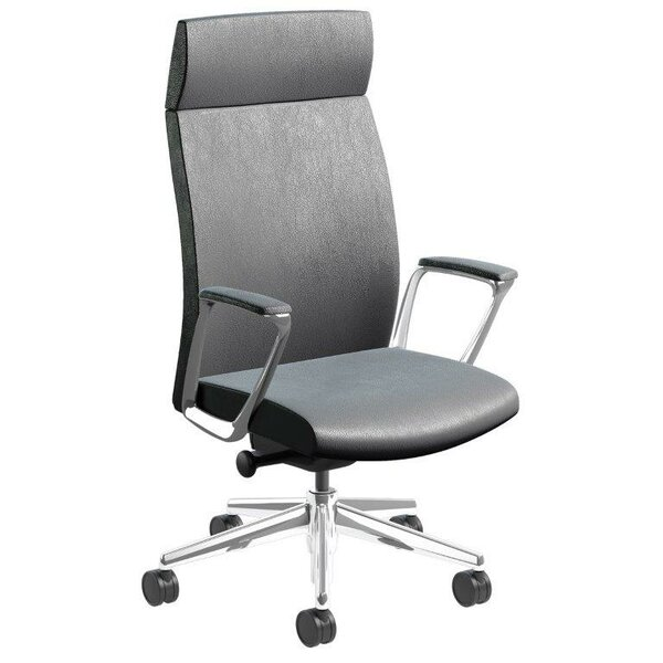 Piede Ergonomic Genuine Leather Executive Chair by Orren Ellis