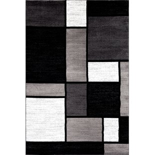 Lorenzo Machine Woven Gray Black Area Rug