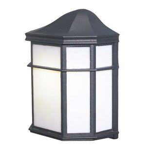 Comparison Energy Saving 1-Light Outdoor Flush Mount By Woodbridge Lighting