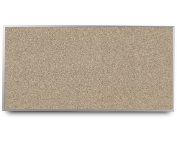 Narrow Aluminum Framed Cork Wall Mounted Bulletin Board by EverWhite
