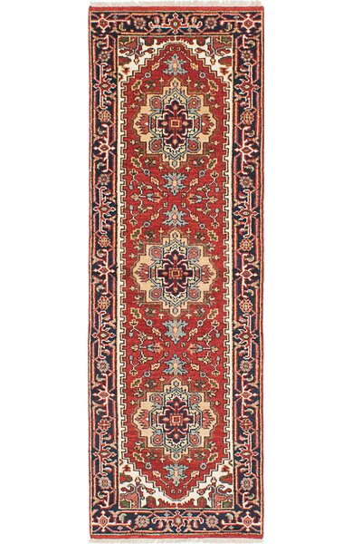 One-of-a-Kind Doerr Hand Knotted Runner Wool Dark Copper Area Rug by Isabelline