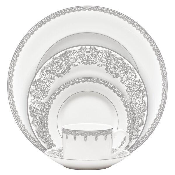 Lismore Lace Bone China 5 Piece Place Setting, Service for 1 by Waterford