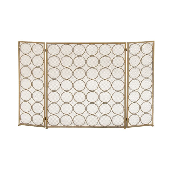 3 Panel Tin Fireplace Screen By Cole & Grey