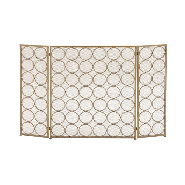 Buy Sale Price 3 Panel Tin Fireplace Screen