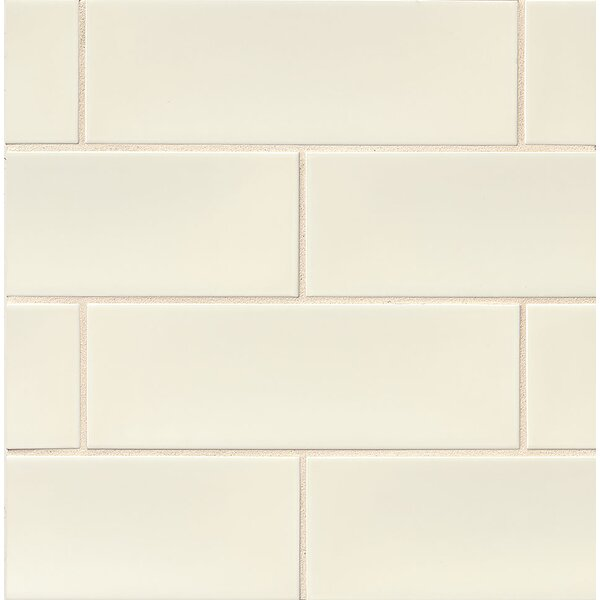 Leila 4 x 12 Ceramic Subway Tile in Cream by Grayson Martin