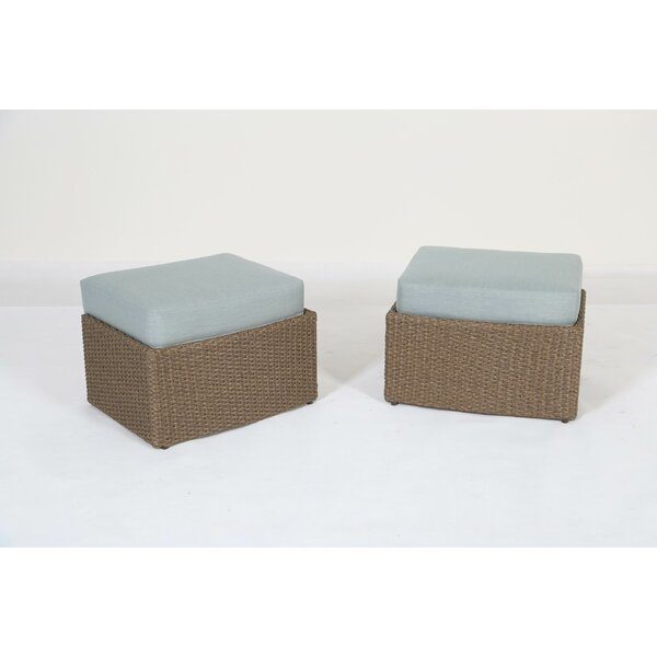 Gillsville Outdoor Ottoman with Cushion by Rosecliff Heights
