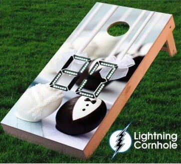 Electronic Scoring Cake Pops Wedding Cornhole Board by Lightning Cornhole
