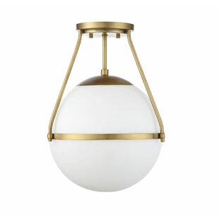 Best Michaela 1-Light Semi Flush Mount By Langley Street