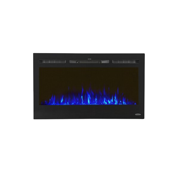 Lauderhill Recessed Wall Mounted Electric Fireplace by Zipcode Design
