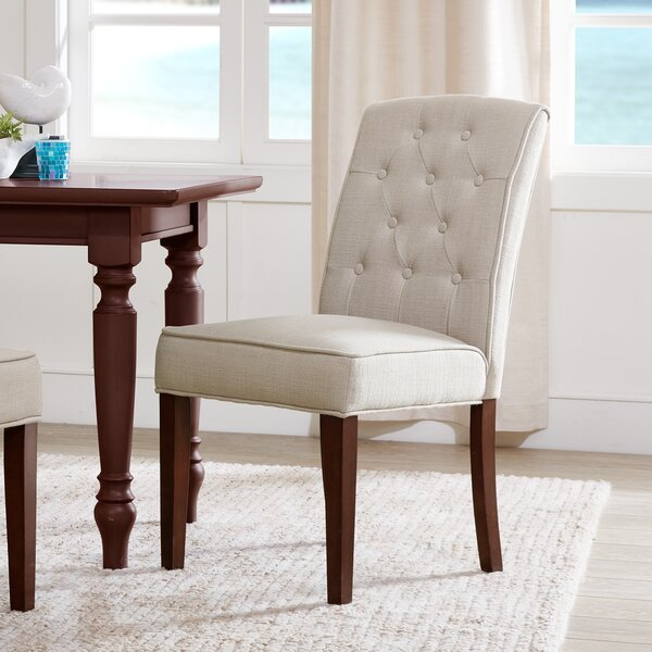 Cayman Upholstered Dining Chair (Set of 2) by Three Posts