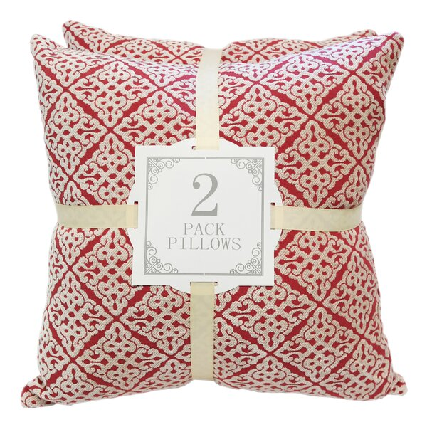 Chenille Jacquard Throw Pillow (Set of 2) by Kingray Home Textile| @ $43.99