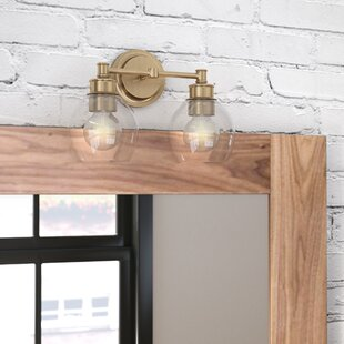 Price comparison Maria 2-Light Vanity Light with Clear Glass ByLangley Street