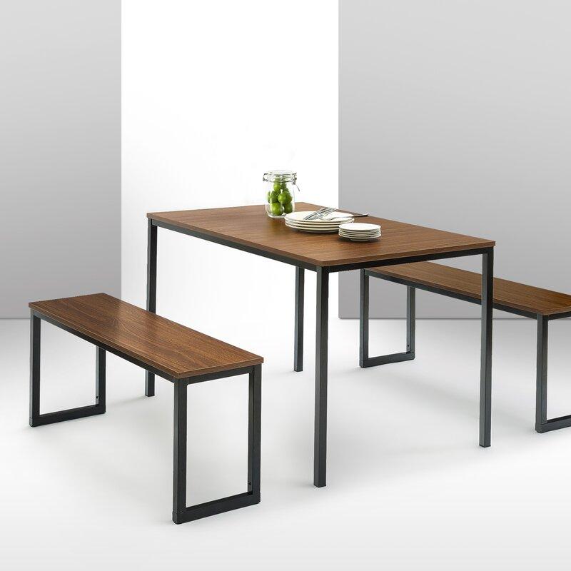 Walser 3 Piece Dining Table Set & Walser 3 Piece Dining Table Set u0026 Reviews | AllModern