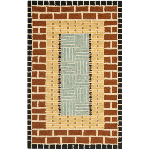 George Brown/Blue Outdoor Area Rug by World Menagerie