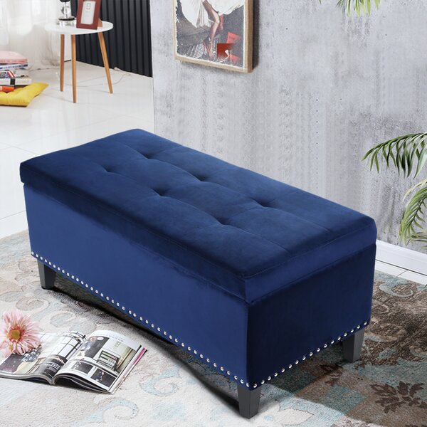 Saltsman Tufted Storage Ottoman by Charlton Home