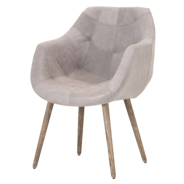Fonteyne Genuine Leather Upholstered Dining Chair by 17 Stories
