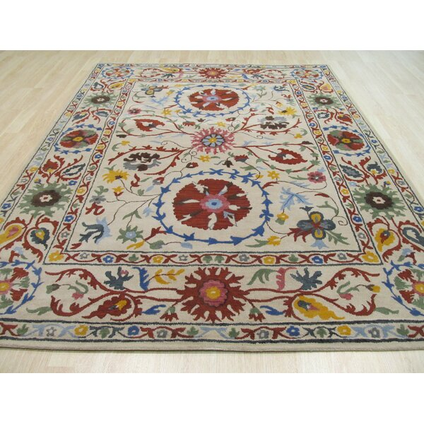 Leland Hand Tufted Ivory Area Rug by The Conestoga Trading Co.