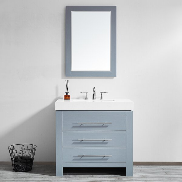 Neva 36 Single Bathroom Vanity Set with Mirror by Wrought Studio