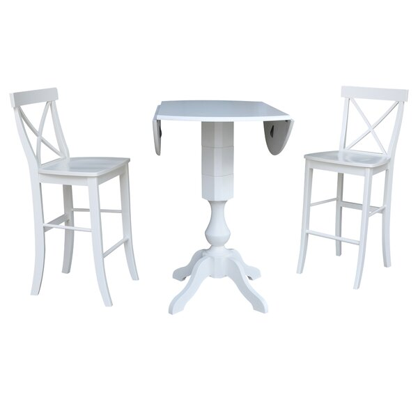 Kim 3 Piece Pub Table Set By Rosecliff Heights Great price