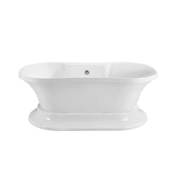 60 x 32 Freestanding Soaking Bathtub by Wildon Home ®