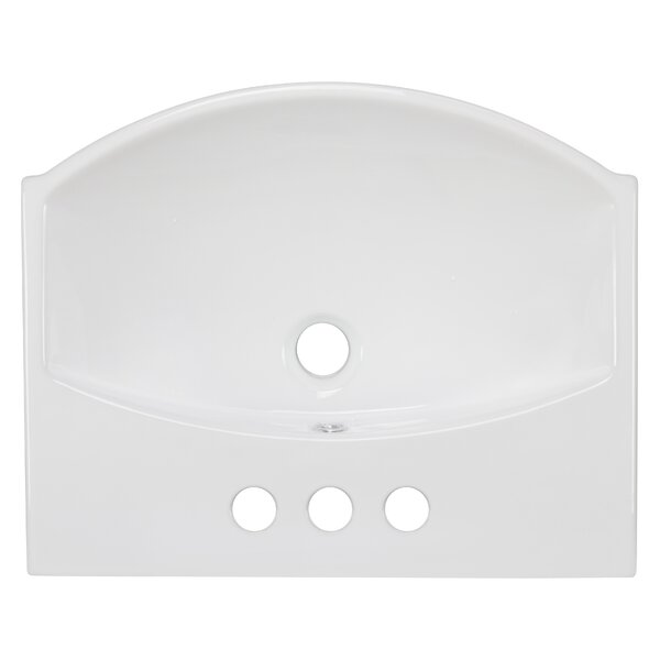 Ceramic 20 Bathroom Sink with Overflow by Royal Purple Bath Kitchen