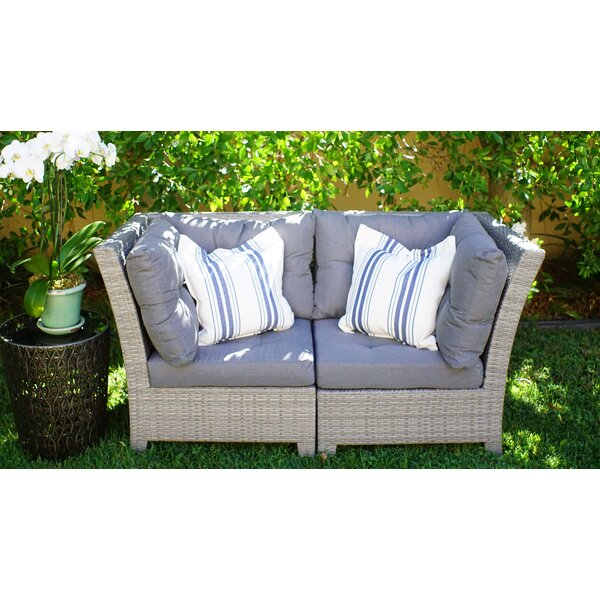Dowdy Loveseat with Cushions by Rosecliff Heights