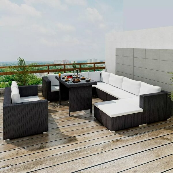 Rook Outdoor 10 Piece Rattan Sofa Seating Group with Cushions by Orren Ellis