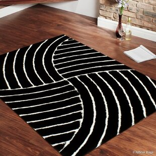 Affordable Price Hand-Tufted Black Area Rug By AllStar Rugs