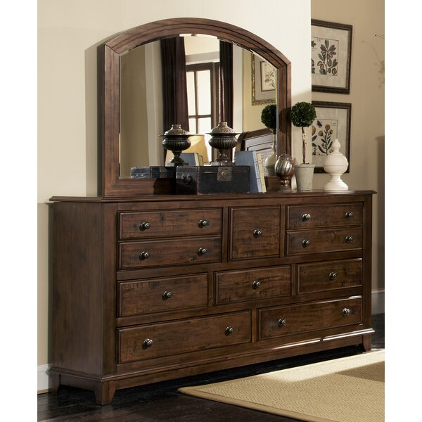 Lando 10 Drawer Dresser with Mirror by Millwood Pines