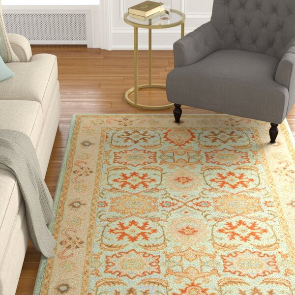 Chaim Blue Rug by Darby Home Co
